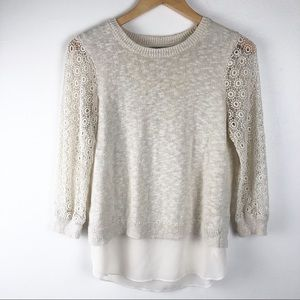 ⭐️ Lucky Brand layered sweater